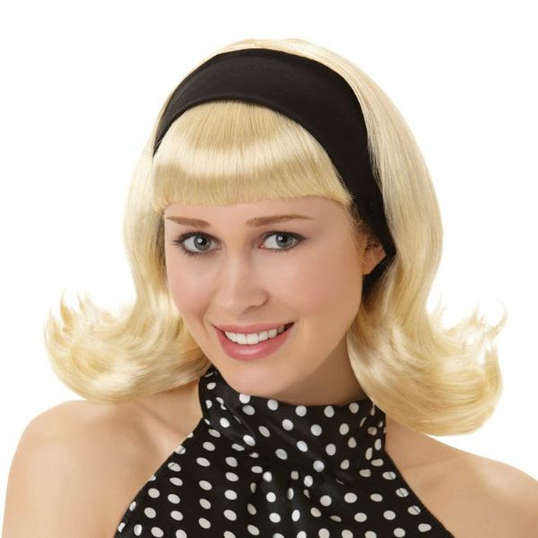 Adults Blonde Wig Fancy Dress Outfit Accessory